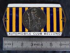 BADGE CLUB BELLUNO SAN CRISTOFORO AUTOMOBILE LOGO STEMMA OLD  ALFA LANCIA FIAT