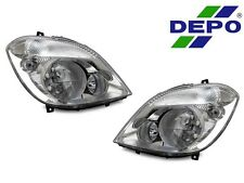 DEPO 07-09 Dodge Sprinter Euro Replacement Headlights with Fog Lights Pair New