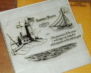 CTMH  C1453 SUMMER BREEZE ~ Lighthouse, Our memories of the ocean will linger...