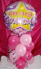"""18"""" FOIL BALLOON TABLE DISPLAY GREATEST GRANDMA BIRTHDAY MOTHERS DAY - AIR FILL"""