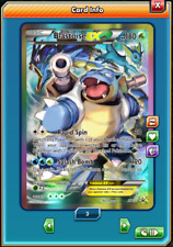 Promo FA Blastoise-EX FULL ART Pokemon TCG ONLINE ( PTCGO digital card )