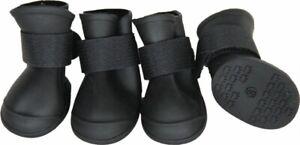 Pet Life Elastic Protective Multi-Usage Rubberized Dog Shoes Black Large