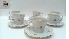Juego de 6 tazas de cafe porcelana Italia, sello porcelana D' Italia.