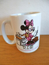 "Disney WDW Minnie Mouse Mug Multi-Tasking Minnie    VIP  4 1/2""s"