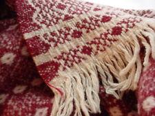 New listing Vtg Amana Woolen Mills Wool Blanket Diamond Pattern Fringed