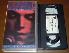 VHS TRAFFIC Live at Santa Monica 72 (Island 90 GER) prog rock PAL tape NM!