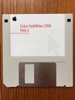 Vtg 1996 Mac Macintosh Color Style Writer 2500 Disk 2 v2.2 Install Floppy Disk
