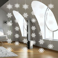 36Pcs Winter Snowflakes Hanging Christmas Tree Festival Party Decor + 6X strings