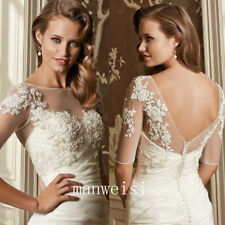 Elegant White Wedding Jackets Lace Top Ivory Bridal Bolero Wraps Shawls New