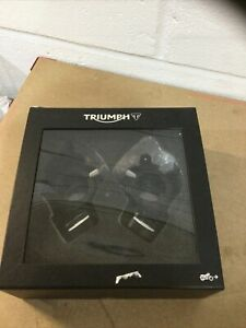 Triumph Thruxton 1200 Black Lower Handlebar Bar Clamp Kit NEW 2016-20