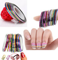 10 Rolls Striping Tape Line DIY Nail Art Tips Sticker Decor Manicure Accessories