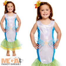 2-3 años del niño Sirena Vestido De Fantasía Cuento De Hadas Princesa CHILDS CHICAS Disfraz