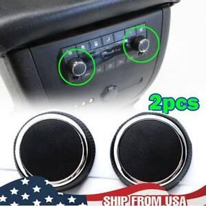 2 Rear Control Knobs Audio Radio For Escalade Enclave Tahoe Chevrolet GMC Pair