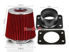 RED Mass Air Flow Sensor Intake MAF Adapter +Filter For 92-97 GS300 SC300 3.0L