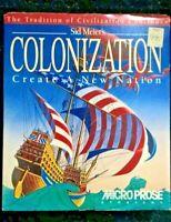 Sid Meier' Colonization PC Windows Game Big Box 1994 CD-ROM Microprose