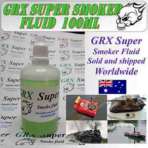 GRX Super Smoker  Fluid 100 ml   Model Boat Tank Trains Trucks