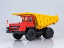 Scale model truck 1:43 BELAZ-7526 (red-yellow)