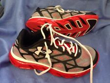 Under Armour Sneakers Size 6.5 Youth Black White Red