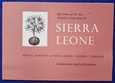 1963 SIERRA LEONE Flowers- Harrison & Sons Security Photogravure - Specimen CARD