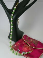 Peridot & White Freshwater Pearl Necklace