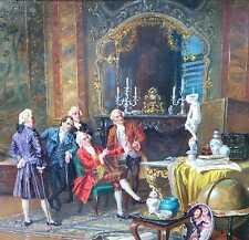 Franke Albert Joseph 1860-1924 München Rokoko Genre Der Kunstkenner Kunstkammer