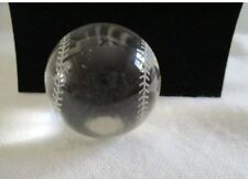 Lead Crystal Baseball Paperweight