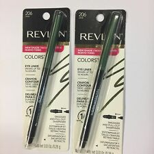 REVLON COLORSTAY EYELINER With Softflex...206...JADE...WATERPROOF 2x Pieces