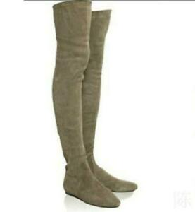New Women Over The Knee Flat Heel Thigh High Ladies Stretch Riding Boots Outwear