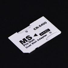 Dual slot Micro SD SDHC TF to MS Memory Stick Pro Duo Adapter Converter for PSP.