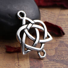 Lady Luck3: 3 x Antique Silver Celtic Knot Connector Charms 24mm x 19mm