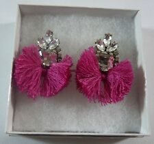 Baublebar Crystal Pom Pom Fuchsia Earrings - New without Tags