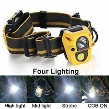 Hunting Fishing IR Sensor 2000LM Headlamp 5W COB+XPE LED Helmet Light Headlight