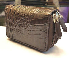 GENUINE CROCODILE ALLIGATOR SKIN LEATHER COIN BAGS PURSES MEN'S BROWN WALLETS
