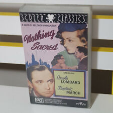 Vhs Video Nothing Sacred Carole Lombard Fredric March