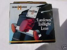Red Taillight Lens LayDown Design Custom L@@K  Most Harley Davidson 1973-1998