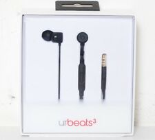 Genuine Beats by Dr. Dre urBeats 3 In-Ear Headphones w/ 3.5mm Black MQFU2LL/A LN