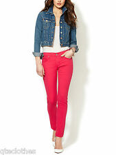 JAMES JEANS $167 NEW Fuchsia Pink Denim Stretch Low-Rise Ankle Jeans 30 L30 QCO