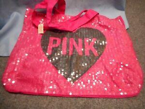 NWT Victoria's Secret PINK Logo Tote Bag Beach Weekender