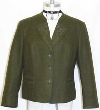 Green WOOL German Short Winter Suit JACKET Coat 46 10 M