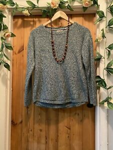FAT FACE  PRETTY FOREST GREEN  POINTELLE   KNIT JUMPER TOP SIZE 12