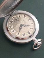 Vintage Watch Pocket Molnija  .Fully prepared for sale - passed the service