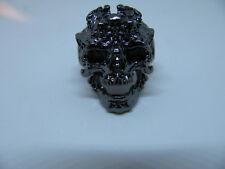 Edelstahlring Schädel Skull Skelett Skeleton Gothik Biker Gr. 13 schwarz