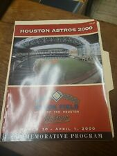 HOUSTON ASTROS 2000 COMMEMORATIVE PROGRAM ENRON FIELD