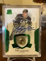 ANZE KOPITAR 2017-18 Upper Deck The Cup AUTO BUTTON 3/3 KINGS 🔥🔥 RARE !!!!