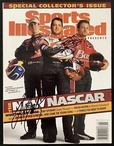 Tony Stewart Signed Sports Illustrated 3/10/03 No Label Kurt Busch Cup Auto JSA