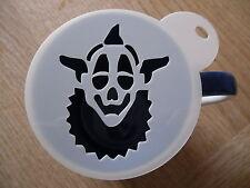 Laser cut clown face design coffee and craft stencil