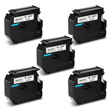 5x Tape Label M K231 Mk231 Blackwhite Compatible For Brother P Touch Pt 55 Pt70