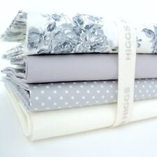 FQ Bundle - Gracious - Grey & Cream x 4 - Fat Quarter - Cotton Fabric Patchwork