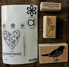 Always Stampin' Up Lot of 11 Wood Mounted Rubber Stamp Set