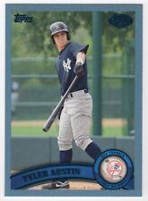 TYLER AUSTIN 2011 Topps Pro Debut BLUE Parallel ROOKIE #089/309 - Yankees